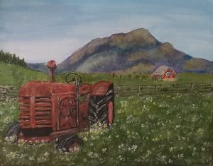 ANDREA PRIEBE-Tractor in a Field-SCREEN